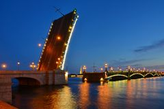 Trinity Bridge and the River Neva Royalty Free Stock Photography