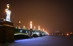 Trinity Bridge in Saint-Petersburg stock photography