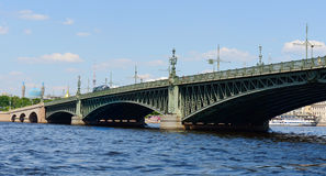 Trinity Bridge, Saint Petersburg Stock Photo