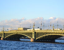 Trinity Bridge in St.Petersburg Stock Photo