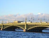 Trinity Bridge in St.Petersburg Stock Photo