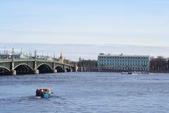 Trinity Bridge in St.Petersburg Royalty Free Stock Image