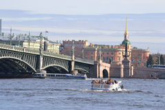 Trinity Bridge in St.Petersburg Stock Image