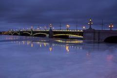 Trinity bridge, St. Petersburg ,Russia Stock Photos