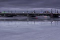 Trinity bridge, St. Petersburg ,Russia Stock Photography