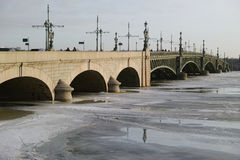 Trinity bridge in St. Petersburg, Russia Stock Photography