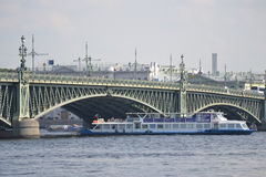 Trinity Bridge in St. Petersburg. Royalty Free Stock Photography