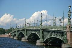Trinity Bridge in St. Petersburg, Russia Royalty Free Stock Photo