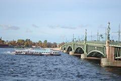 Trinity Bridge in St. Petersburg Stock Image
