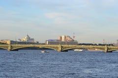 Trinity Bridge in St.Petersburg. Royalty Free Stock Photos
