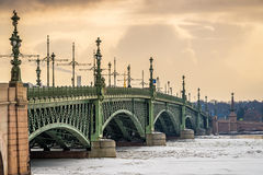 Trinity Bridge in St. Petersburg Royalty Free Stock Images