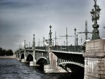 Trinity Bridge in St.Petersburg Royalty Free Stock Photos