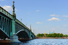Trinity Bridge in summer day (was opened in 1903) Stock Photo