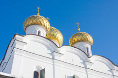 Trinity Cathedral. Christianity church in Russia, Kostroma city, Ipatievsky monastery, Cradle of the house of Romanovs Royalty Free Stock Images