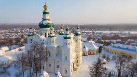 Trinity Cathedral in Chernihiv, Ukraine. Winter timelapse 2017. Winter timelapse of Trinity Cathedral in Chernihiv, Ukraine stock video