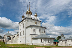 Trinity Cathedral in Gorokhovets. Vladimir region. Gorokhovets, Vladimir region. Summer day in the monastery Svyato-Troitse-Nikolsky Royalty Free Stock Image