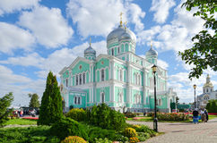Trinity Cathedral of  Holy Trinity Seraphim-Diveevo monastery, D Royalty Free Stock Images
