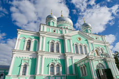 Trinity Cathedral of  Holy Trinity Seraphim-Diveevo monastery, D Stock Photography
