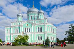 Trinity Cathedral of Holy Trinity Seraphim-Diveevo monastery Stock Photography