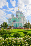 Trinity Cathedral of the Holy Trinity Seraphim-Diveevo monastery Royalty Free Stock Photography