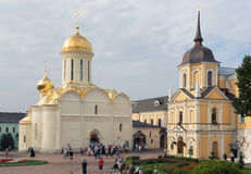Trinity Cathedral. The Holy Trinity-St. Sergius Lavra. SERGIEV POSAD, RUSSIA - JULY, 28, 2016: Trinity Cathedral. The Holy Trinity-St. Sergius Lavra Stock Image