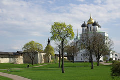 Trinity Cathedral of the Kremlin in Pskov Stock Photo