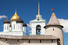 The Trinity Cathedral located since 1589 in Pskov Stock Photo