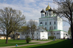 Trinity Cathedral in Pskov, Russia Stock Photography
