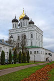 Trinity Cathedral in Pskov, Russia. Ancient temple in old fortress Stock Photography
