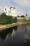 Trinity cathedral in Pskov Royalty Free Stock Photos