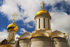 Trinity cathedral in the Trinity Lavra of St. Sergius Stock Photo