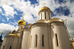 Trinity cathedral in the Trinity Lavra of St. Sergius Stock Image