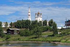 Trinity cathedral in Verkhoturye, Russia Stock Image