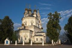 Trinity Cathedral in Verkhoturye summer morning. Sverdlovsk Region RUSSIA. Stock Images