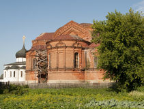 Trinity Cathedral in Yuriev-Polsky. Russia stock photo