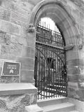 Trinity Church arched entrance royalty free stock photography