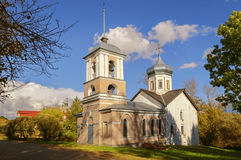 Trinity Church with the bell tower. The ancient Trinity Church with the bell tower in Veliky Novgorod Royalty Free Stock Image