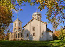 Trinity Church with the bell tower. The ancient Trinity Church with the bell tower in Veliky Novgorod Royalty Free Stock Photos