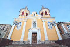 Trinity church in Berezhany. Summer. Stock Photography