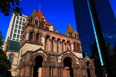 Trinity Church Downtown Boston Royalty Free Stock Images