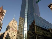 Trinity Church and John Hancock Tower, Copley Square, Boston, Massachusetts, USA Stock Photos