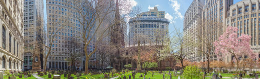 Trinity Church in Lower Manhattan Stock Images