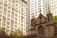 Trinity church in the New York City (USA) Stock Images