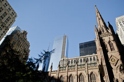 Trinity church in New York Stock Photos