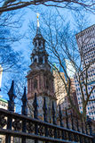 Trinity Church NYC. Trinity Church in New York City stock images