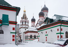 Trinity church in Old Cheremushki. Moscow. royalty free stock photo