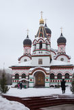 Trinity church in Old Cheremushki. Moscow. Winter time. Stock Images