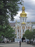Trinity Church over the gates of Kiev Pechersk Lavra in Kiev. Built in the 11th century royalty free stock image