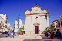 Trinity Church in Polignano a Mare Stock Photography