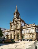 The Trinity Church in Porto, Portugal. Stock Photos
